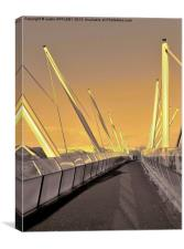 FORTHSIDE FOOTBRIDGE STIRLING SCOTLAND, Canvas Print