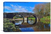 OLD BRIDGE TWO BRIDGES DARTMOOR, Canvas Print
