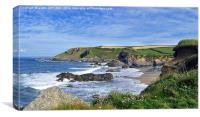 Gunwalloe Church Cove lizard Cornwall, Canvas Print
