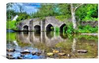 Bury Bridge And Ford Exmoor, Canvas Print