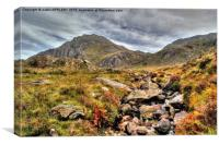 Tryfan Snowdonia North Wales , Canvas Print