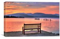 View From The Bench, Canvas Print