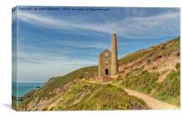 Pathways To Wheal Coates, Canvas Print