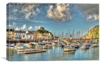 Ilfracombe Harbour North Devon, Canvas Print