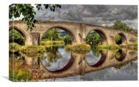 Stirling Old Bridge Reflections, Canvas Print