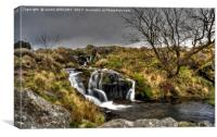Black Tor Falls Dartmoor , Canvas Print