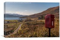 Remote Post Box, Canvas Print