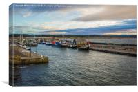 Burghead Harbour, Canvas Print