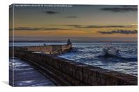 Burghead Sunset, Canvas Print