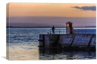Sunset At Burghead, Canvas Print