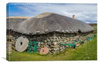 A Scottish Croft, Canvas Print