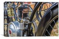 Old Bike Engine, Canvas Print