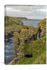 Findlater Castle, Canvas Print