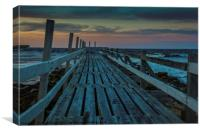 Lossiemouth Boardwalk, Canvas Print