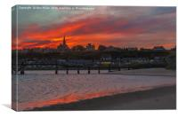 Lossiemouth On Fire, Canvas Print
