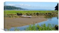 Low Tide at Laugharne, Canvas Print