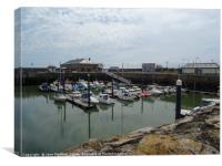 Porthcawl Harbour , Canvas Print