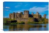 A Fortress in Caerphilly, Canvas Print