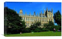 Park View, Palace of Westminster, Canvas Print