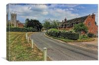 Woodbastwick village and church, Canvas Print