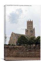 Fotheringhay Church, Canvas Print
