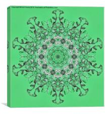 Kaleidoscope of mint green icicles, Canvas Print