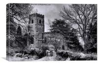 St Botolph's Church, Rugby Black and White, Canvas Print
