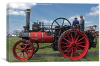 Chieftain traction engine, Canvas Print