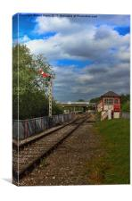 Orton Mere Station and signal box, Canvas Print