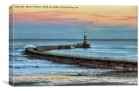 Roker Pier and Lighthouse, Canvas Print