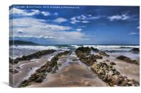 Widemouth Bay Rock Formation, Canvas Print