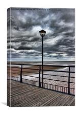 Cleethorpes Pier Lamp, Canvas Print