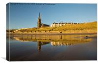Cullercoats in the Sands, Canvas Print