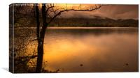 Evening on the Lake, Canvas Print