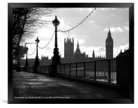 Houses of Parliament, London, Framed Print