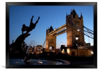 Tower Bridge, London. Sunset, Framed Print