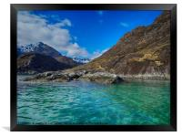 Sailing past the Bad Step to Loch Coruisk, Skye, Framed Print