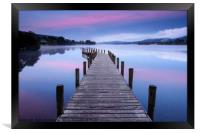 North Jetty at Coniston Water, Framed Print