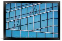 Windows and Ladders, Framed Print