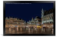 "Brussels ""Its a Grand Place"", Framed Print"
