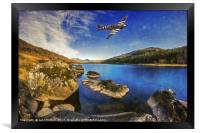 Spitfire Lake , Framed Print