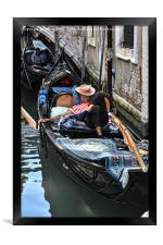 Sleeping Gondolier.., Framed Print