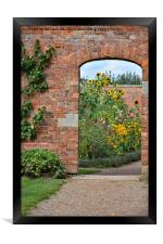 Entrance to the walled garden, Framed Print