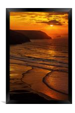Porthtowan Beach - North Cornish Coast, Framed Print