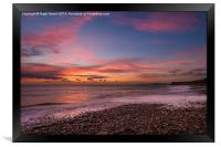Brook Beach Sunset, Framed Print