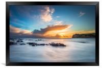 Freshwater Bay Beach Sunset, Framed Print
