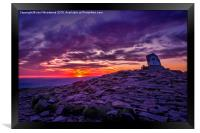 Sunrise From The Top Of Pen Y Fan  Brecon Beacons, Framed Print