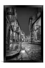 Cobblestones Windows & Doors on Steep Hill, Framed Print