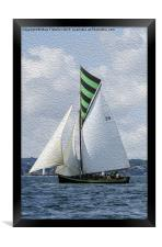 Irene - Falmouth - Working Boat, Framed Print