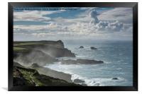 Misty North Coast, Cornwall, Framed Print